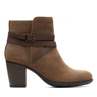 Clarks Enfield Coco Olive Womens Boots